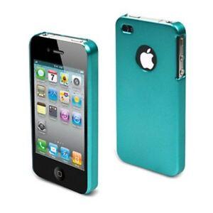 MUVIT-METALLO-in-gomma-per-iPhone-4G-turchese-di-seconda-mano