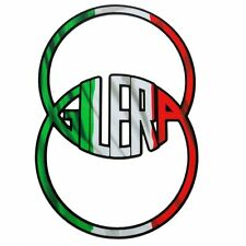 Gilera Italian flag style Motorcycle graphics stickers decals x 2PCS Unique