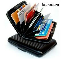 RFID wallet anti theft Aluminium ID card holder pocket slim credit Black color