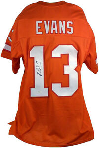 Image is loading MIKE-EVANS-BUCCANEERS-SIGNED-AUTOGRAPHED-CUSTOM-ORANGE- THROWBACK- c93a33f1f