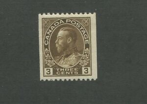 King George V 1921 Canada 3c Brown Postage Stamp #134 Value $25