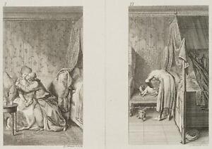 Chodowiecki (1726-1801). felicita coniugale sul divano & della gotta malati moroso 1