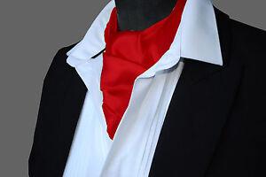 SATIN-Neck-Tie-Cravat-Ascot-ALL-COLOURS
