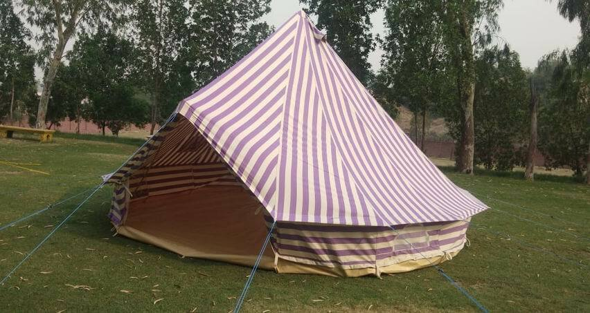 5m Canvas Bell Tent 100% cotton 400Ultimate ZIG Zipped-in-Groundsheet  & carryBag  there are more brands of high-quality goods