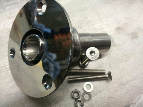 hull fitting exhaust 24mm for webasto heaters stainless polished eberspacher