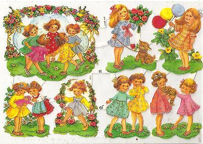 1 Bogen Glanzbilder Poesie Tiere Schmetterlinge mit Glimmer ef 7297 Nr.142