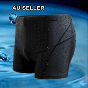 Men-039-s-Boy-Black-Swimming-Trunk-Pants-Swimwear-Fast-Dry-Sharkskin-Slim-Beach