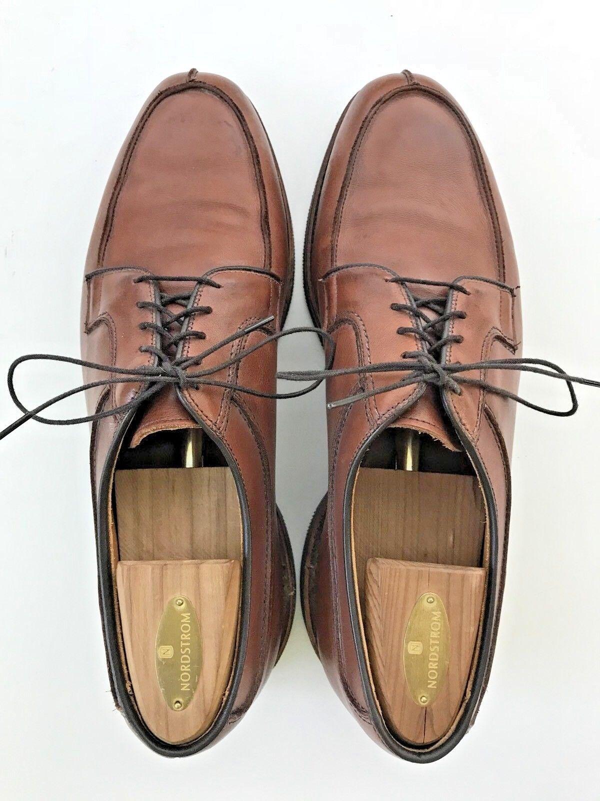 Allen Allen Allen Edmonds para hombre Stockbridge Marrón Split-Toe Suela De Goma Zapatos EE. UU. 11 D 342098
