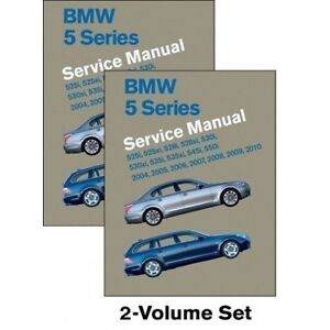 bmw 5 series service manual 2004 2010 e60 e61 new 2 volume set rh ebay co uk bentley bmw 5 series e60 service manual pdf bmw 5 series e60 service manual