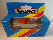 Matchbox #65 Silver Cadillac Allante Convertible in box dated 1981