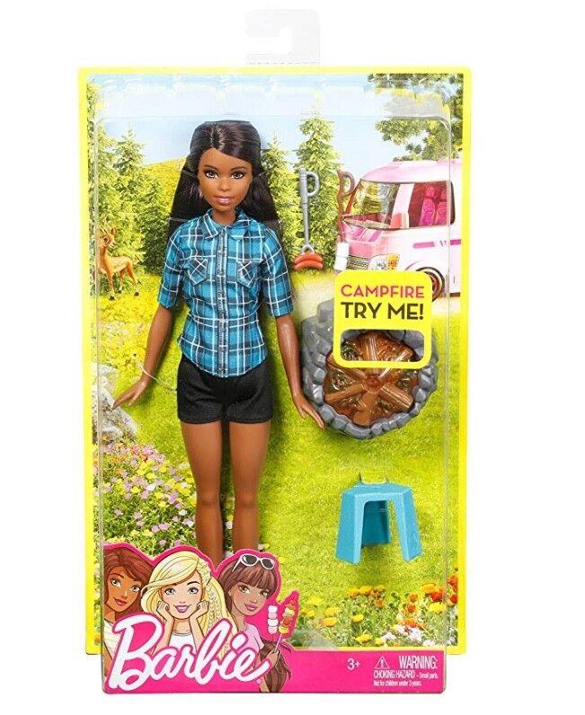 Neuer Barbie Lagerfeuer Puppe, Brünett, Spielset