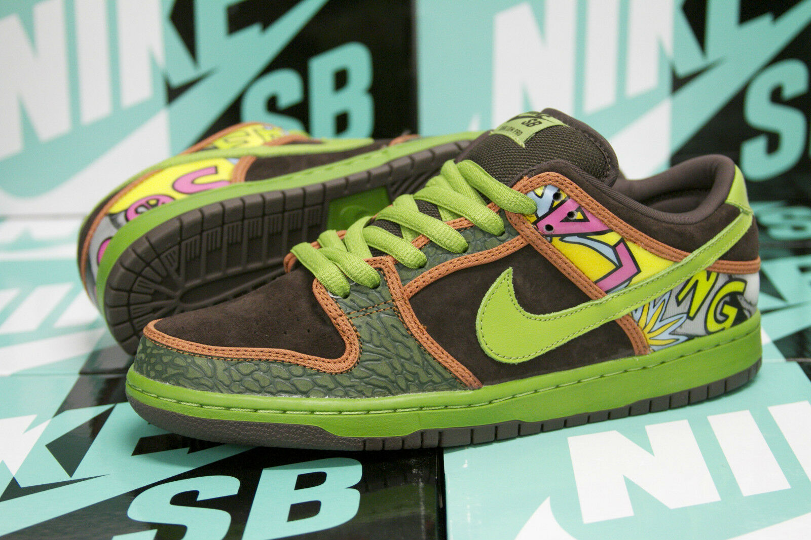 Nike SB Dunk Low Premium QS  De La Soul  Safari Altitude Green 789841332 SZ 10.5
