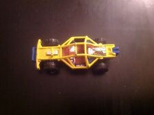 2000 HOT WHEELS ROLL CAGE DIE-CAST KIDS TOY CAR YELLOW & BLUE #12
