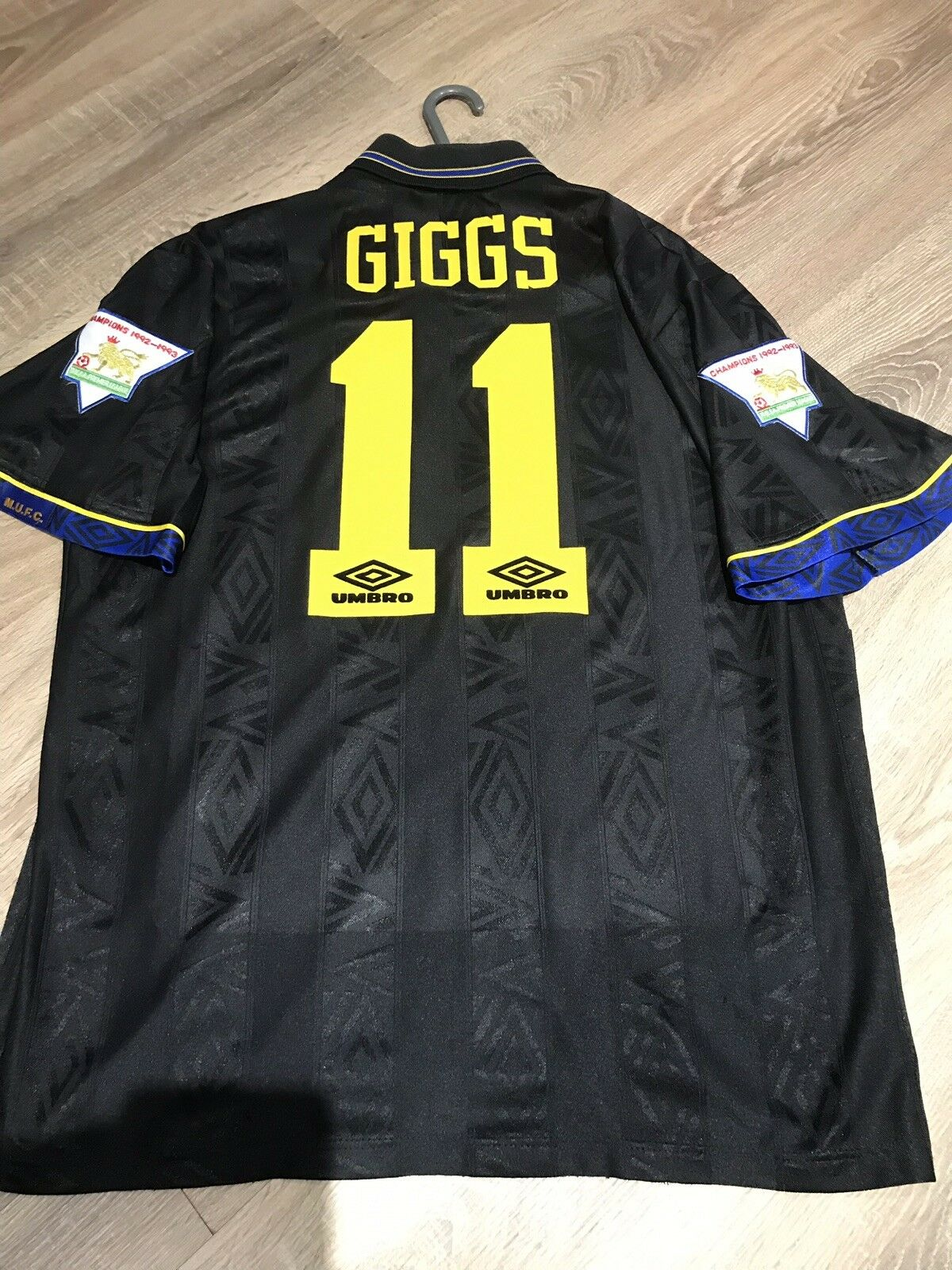 Manchester United Vintage 199495 Away Camicia Adulti L 11 GIGGS