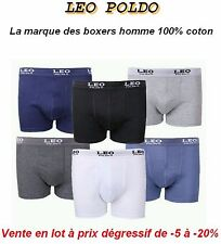 .LOT 5 BOXER TAILLE M GARCON HOMME MARQUE LEO PODO 100/% COTON NEUF CALECON SLIP3