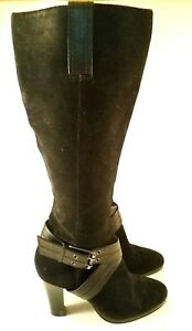 women's black chaps candace knee high fashion boots