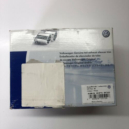 VW Various Chrome Single tailpipe for 65mm Tailpipe 6R0071910 New Genuine VW