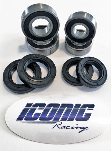 04-13 Yamaha YFM Raptor 125 250 350 BOTH Front Wheel Bearing /& Seal Kits