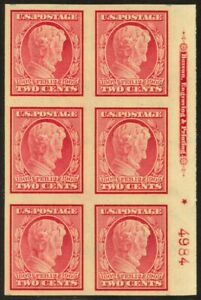 368-2c-1909-Lincoln-NH-Plate-Block-of-6