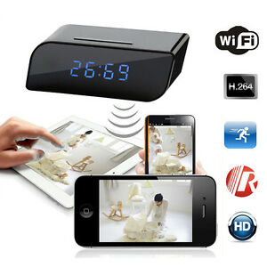 HD-720P-Wireless-Wifi-IP-Spy-Hidden-Camera-Motion-Security-Alarm-Clock-IR-DV-Cam