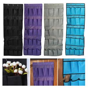 20-Pocket-Over-the-Door-Shoe-Organizer-Rack-Hanging-Storage-Space-Saver-W-3-Hook