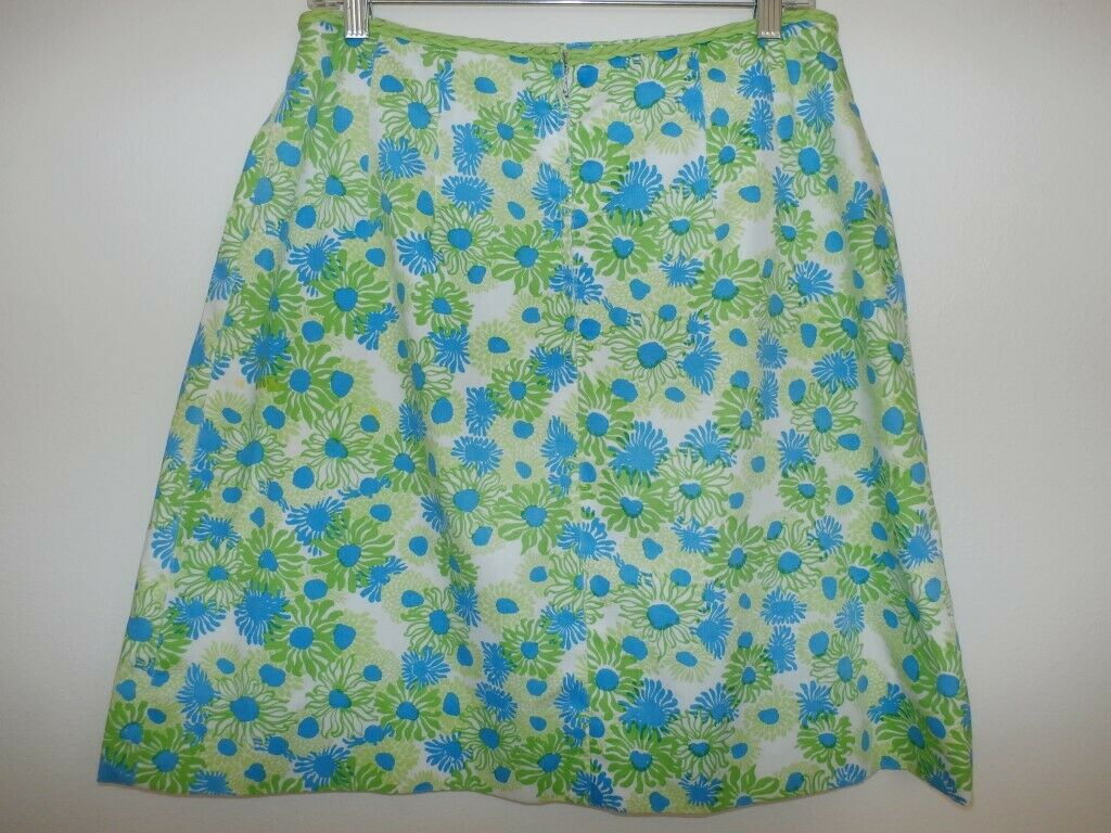 Lilly Pulitzer Vintage Skirt SZ 8 The Lilly Blue … - image 7