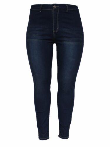 Plus Size New High Waist Blue Stretchy Skinny Slim Fit Denim Jean Size 18-26