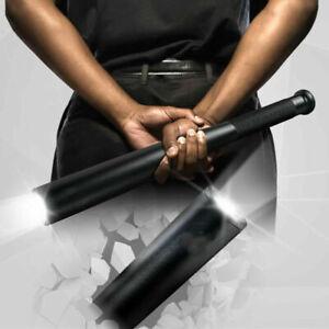 Black Baseball Bat LED Flashlight  Cree Waterproof Security Super Bright Torch