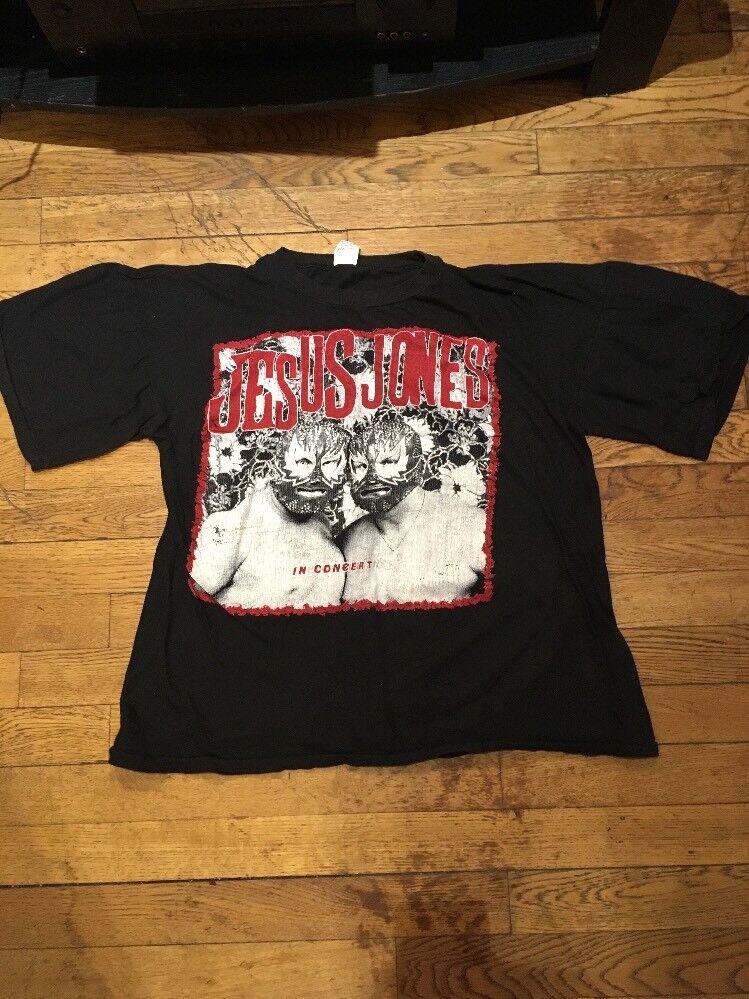 90's VTG JESUS JONES Band Tour Concert T-Shirt Nirvana Pearl Jam Soundgarden
