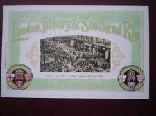POSTCARD LONDON TILBURY & SOUTHEND RLY - PETTICOAT LANE WHITECHAPEL