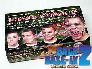 Ultimate Zombie Kit for Halloween Costume & Make Up Liquid Silicone Rubber