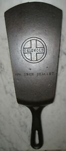 VINTAGE-CAST-IRON-GRISWOLD-9-SPATULA-FROM-A-CRACKED-DAMAGED-SKILLET