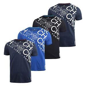 Para-Hombre-Crosshatch-Camiseta-Grafico-Cuello-Redondo-Manga-Corta-Camiseta-Top-wolvey