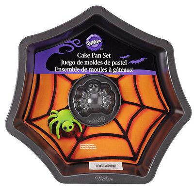Wilton Halloween Antihaft Backform Spinnennetz mit Spinne 2teilig Ø ca. 22,5cm