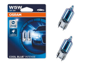 2x-OSRAM-cool-blue-intense-luz-de-estacionamiento-Led-4000k-optica-w5wl-t10-501-marca-de
