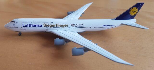 Herpa Wings 530026 Lufthansa 747-8 Interconti Siegerflieger Olympia Rio 2016