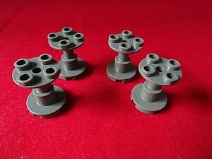 LEGO Lot of 6 Black 2x2x2 Space Support Stands