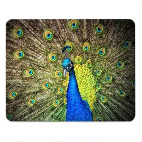 """Mousepad  /""""Blauer Pfau/"""" 24x19cm Vogel peacock Mauspad"""