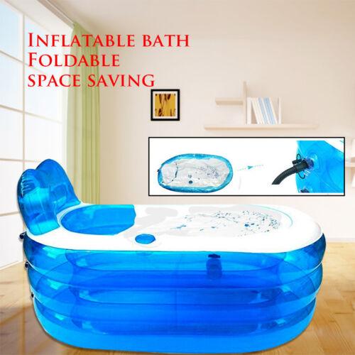 Home Inflatable Bathtub Adult Spa Bathing Tubs Folding Bath Tub  Play Pool 121cm