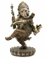 Dancing Ganesh Statue - Cold Cast Bronze, New, Free Shipping