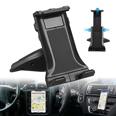 CD Slot Universal Tablet Car Mount Holder for Cell Phone & 8-10 inch Tablets