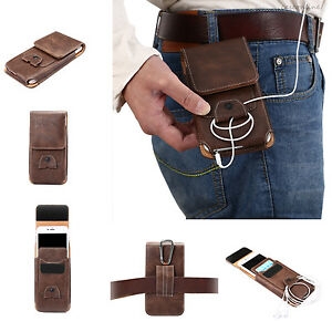 Luxury-Leather-Flip-Belt-Wallet-Outdoor-Pouch-Card-Cell-Phone-Case-Cover-Bag-New