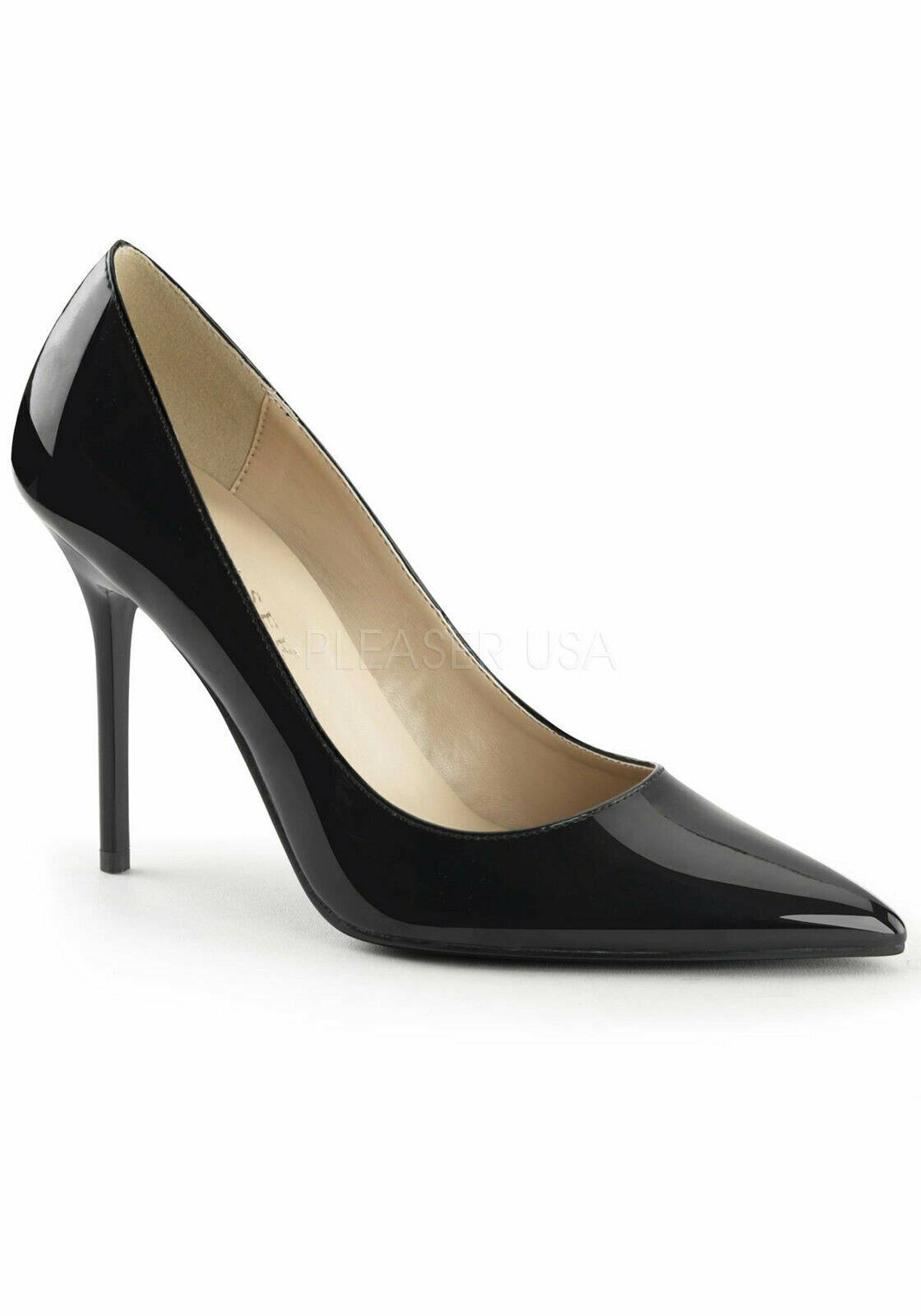 Pleaser CLASSIQUE-20 4 Inch Pointed-Toe Pump