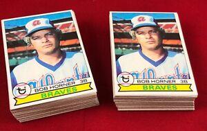Lot of 100 Cards 1979 Topps Bob Horner Rookie Baseball Card # 586  RG1