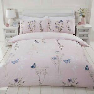 Duvet-Cover-Set-Single-Cotton-Bedset-Floral-Blush-Pink-Reversible-Bedding-Set