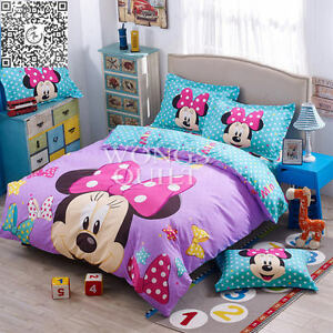 Image Is Loading Minnie Mouse Duvet Cover With Pillow Case Single