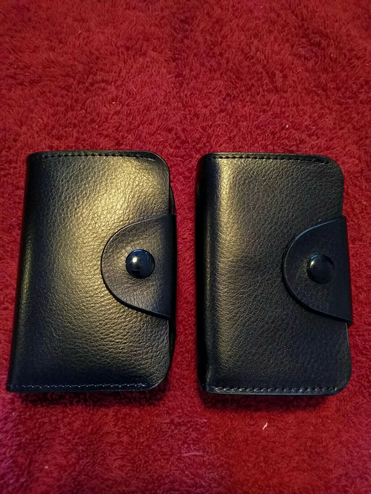 Reseller lot, 180, Black multi-card holder, soft, faux leather, button up, New