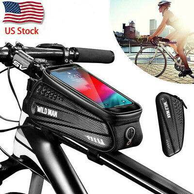 Waterproof Bike Top Tube Bag Cycling Bicycle Front Frame Pouch Case For MTB Road