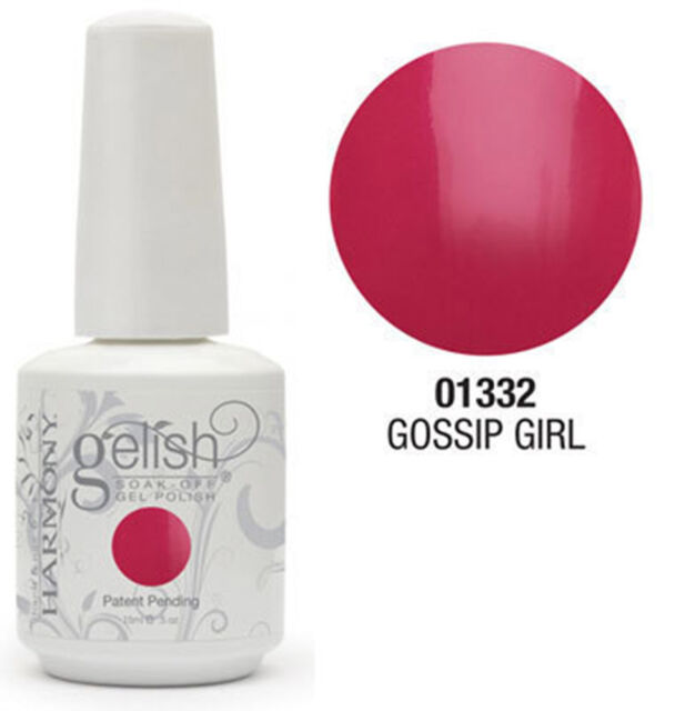 Nail Harmony Gelish UV Gossip Girl (Hot Pink) - .5 oz 15ml - 01332