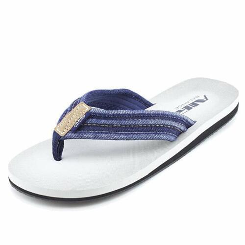sizes 8-13 Air Balance Men/'s Flip Flop Sandals Slide Shoes Brown Black Navy